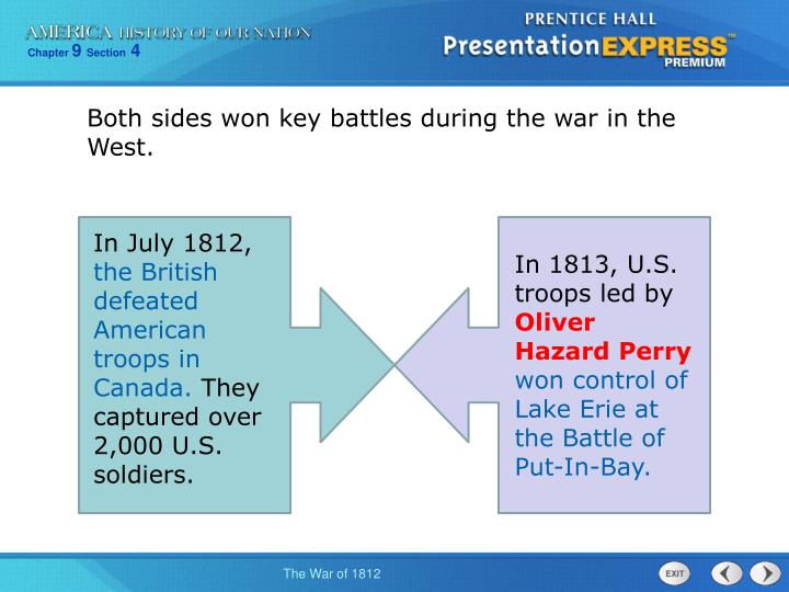 Both sides won key battles during the war in the West.