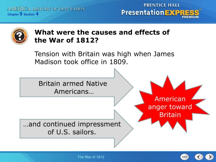 What were the causes and effects of the War of 1812?