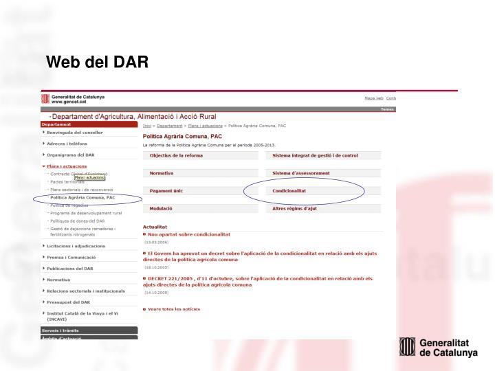 Web del DAR