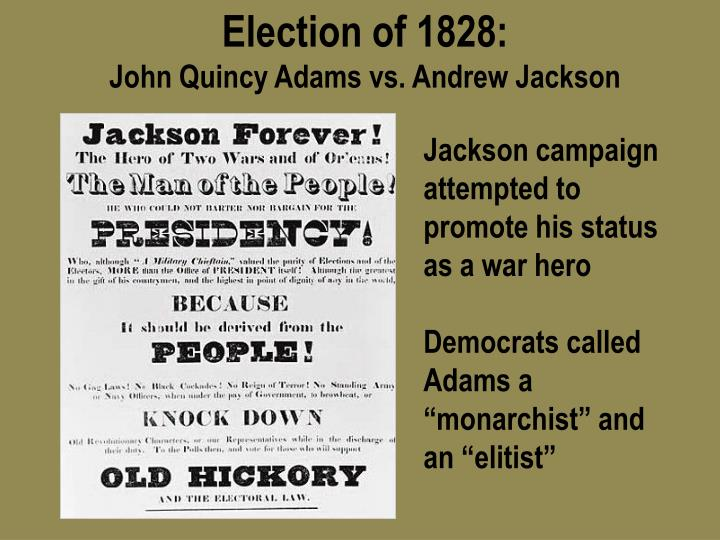 andrew jackson campaign speech of 1828 essay