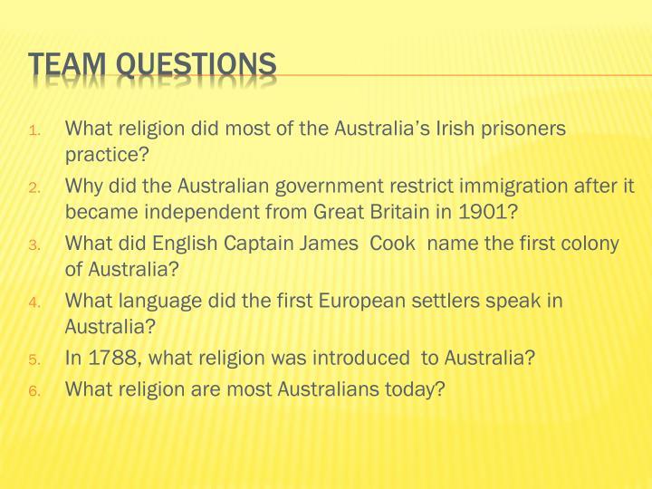 What religion did most of the Australia's Irish prisoners practice?
