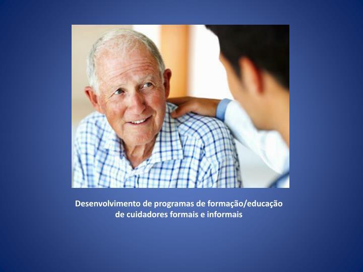 Desenvolvimento de programas de formação/educação de cuidadores formais e informais