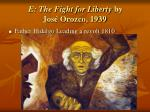e the fight for liberty by jos orozco 1939