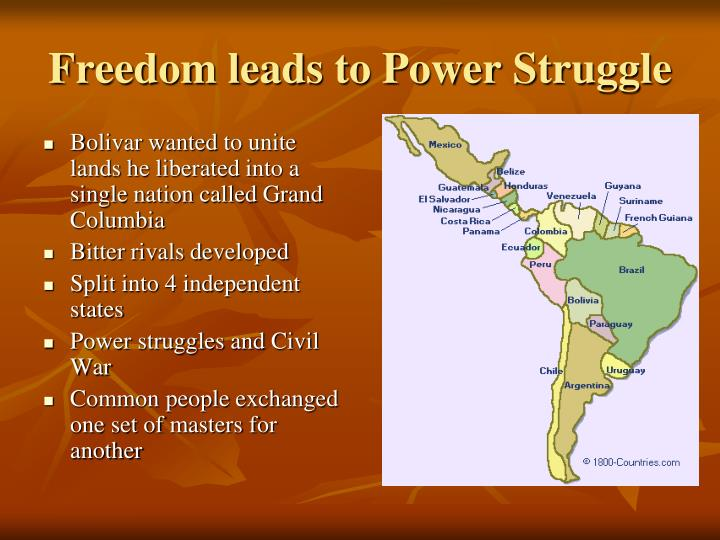 Freedom leads to Power Struggle