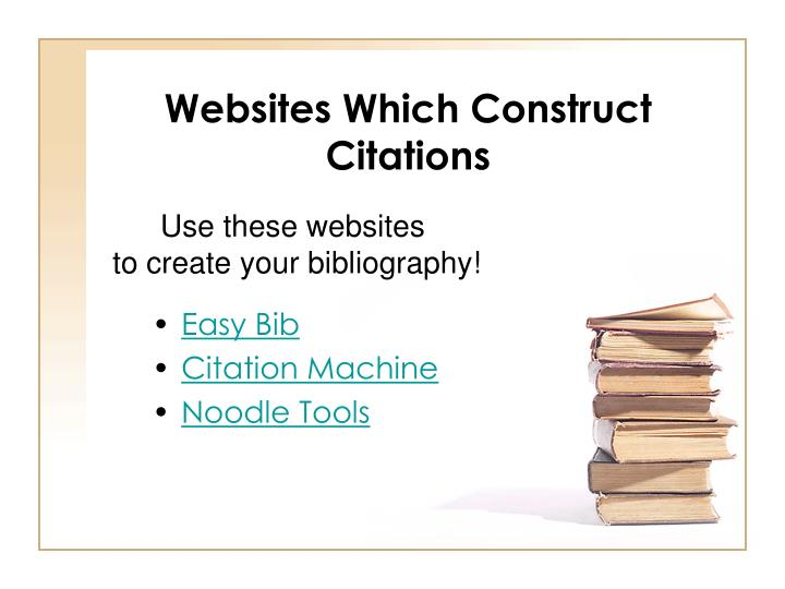 Websites Which Construct Citations