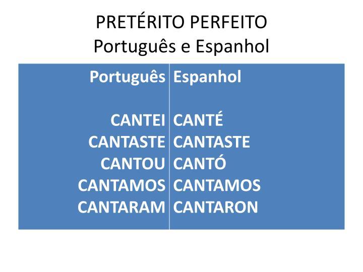 PRETÉRITO PERFEITO