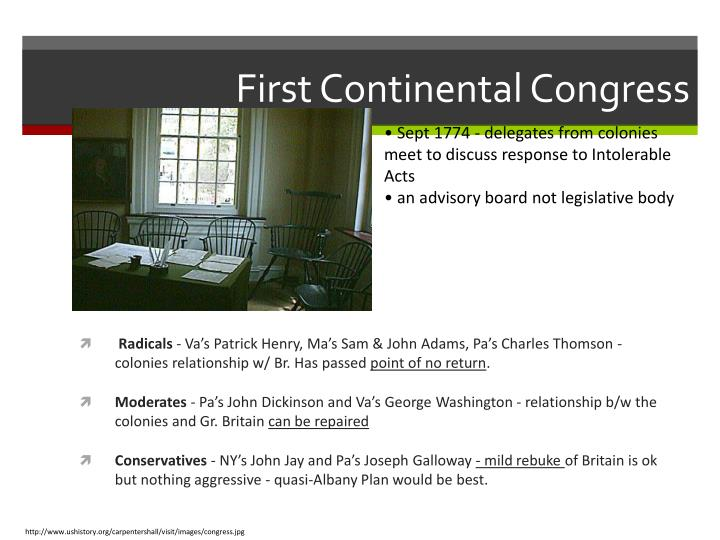 First Continental Congress