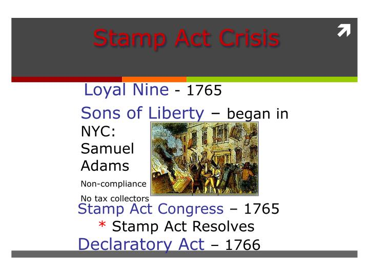 Stamp Act Crisis