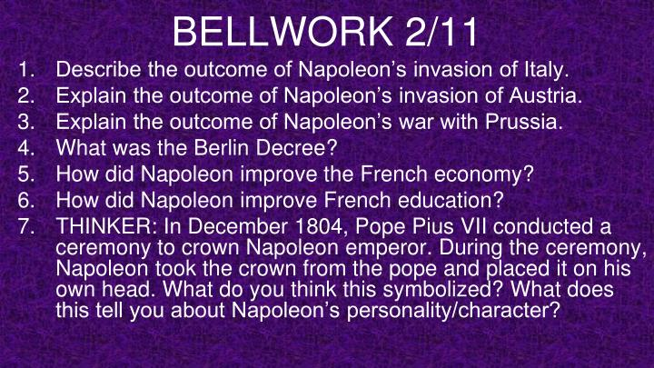 BELLWORK 2/11