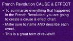 french revolution cause effect