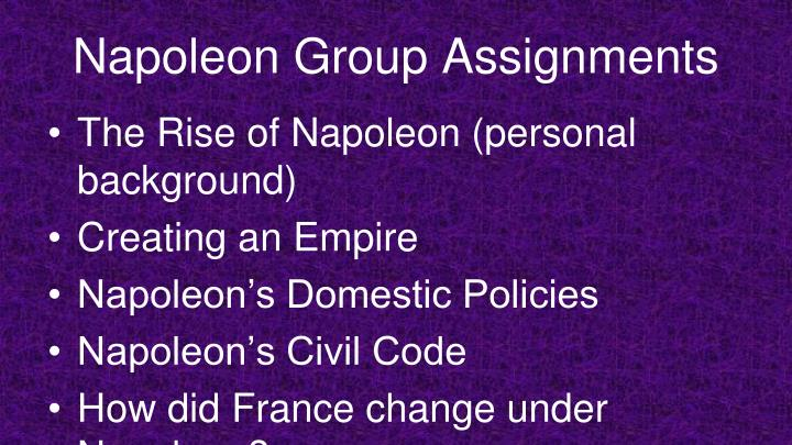 Napoleon Group Assignments