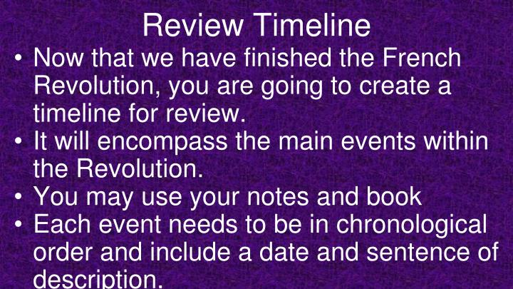 Review Timeline