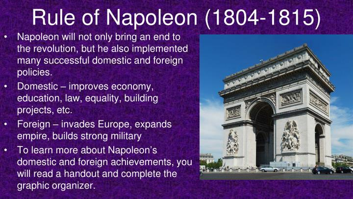 Rule of Napoleon (1804-1815)
