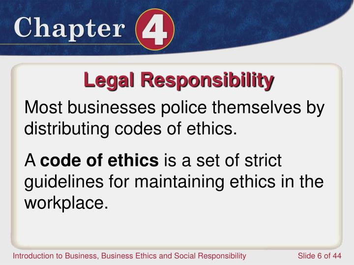Legal Responsibility