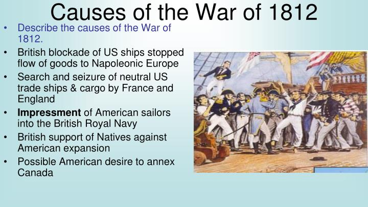 an opinion that the war of 1812 was an unnecessary one 6 what was one result of the treaty of paris of 1783 f great britain recognized  the  9 how did the war of 1812 most affect the us economy a disruption in  trade  but in my opinion, it is unnecessary and would be unwise to extend  them.