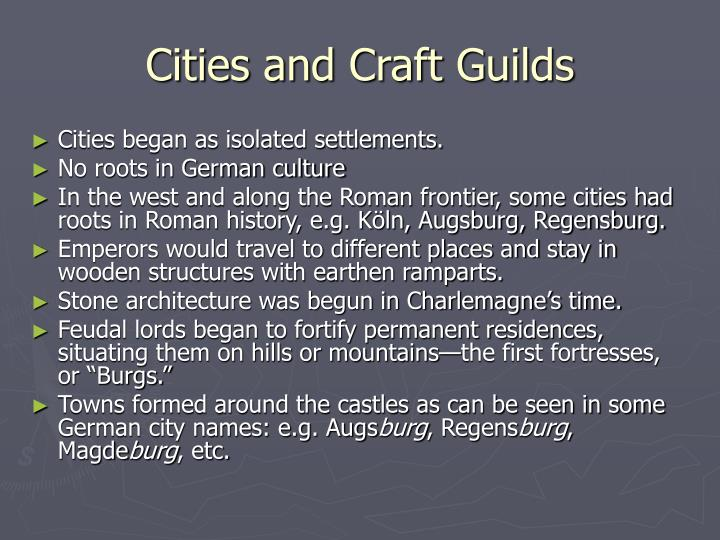 Cities and Craft Guilds