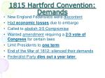 1815 hartford convention demands