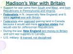 madison s war with britain