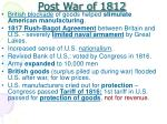 post war of 1812