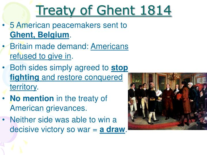 Treaty of Ghent 1814