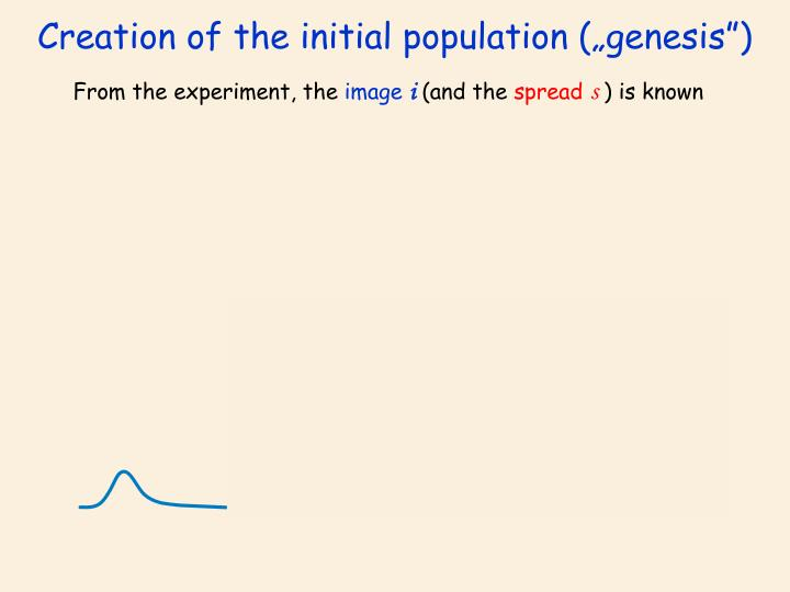 "Creation of the initial population (""genesis"")"