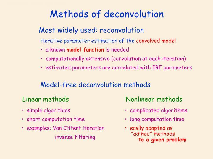 Methods of deconvolution