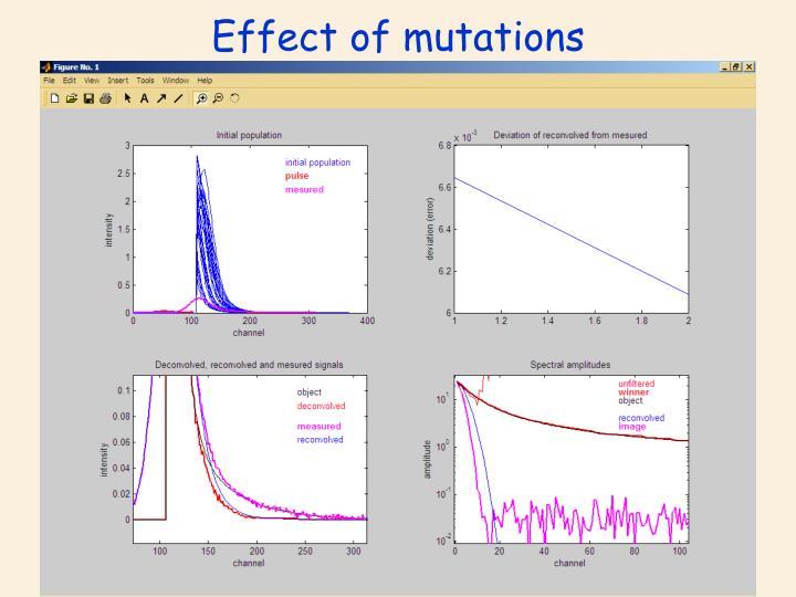 Effect of mutations