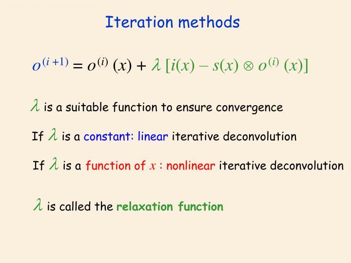 Iteration methods