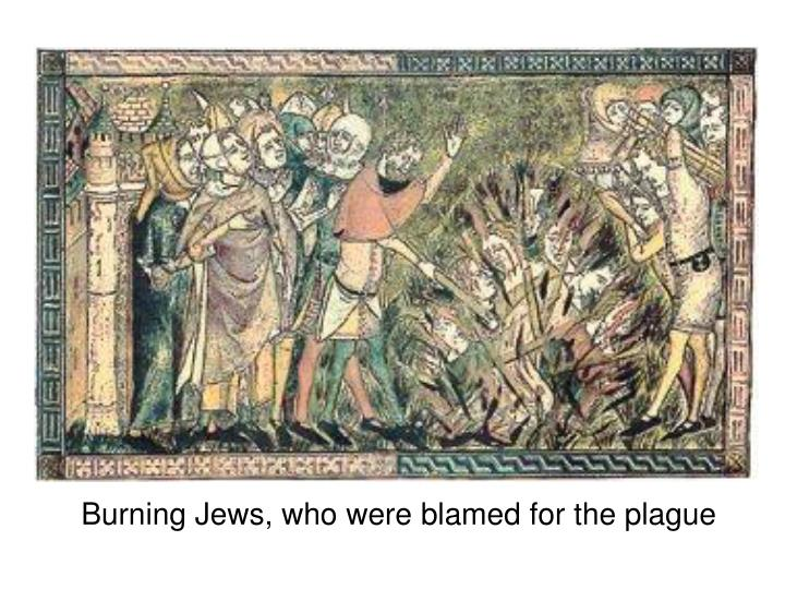 Burning Jews, who were blamed for the plague