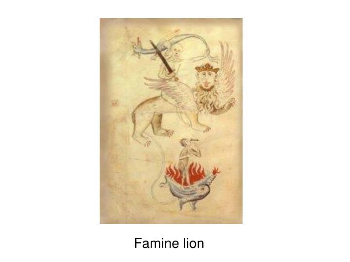 Famine lion