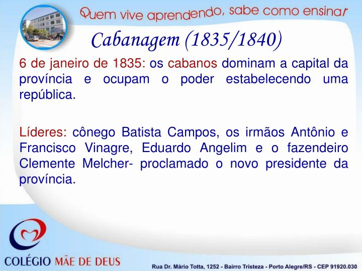 Cabanagem (1835/1840)
