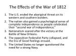 the effects of the war of 1812