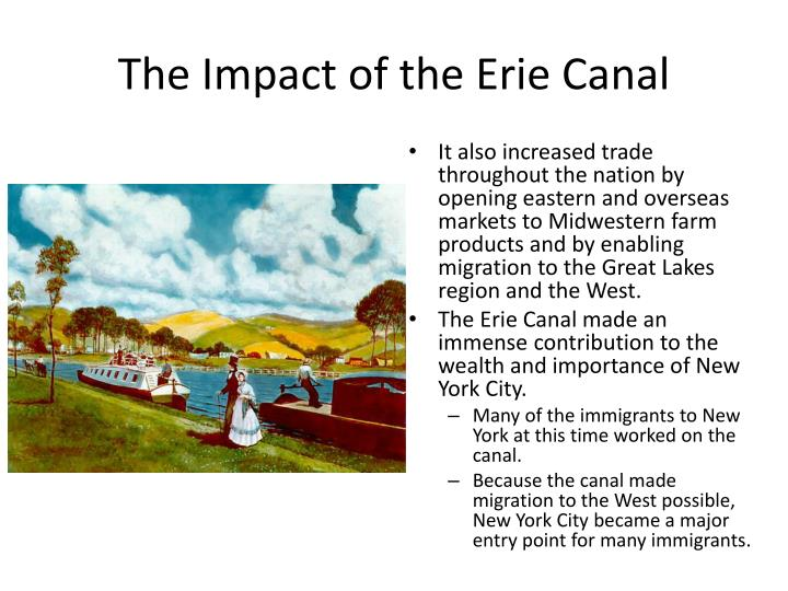 The Impact of the Erie Canal