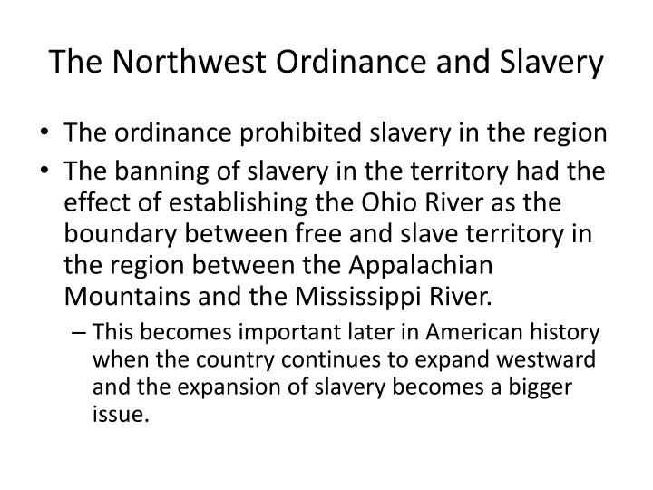 The Northwest Ordinance and Slavery