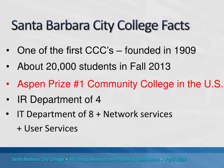 Santa barbara city college facts