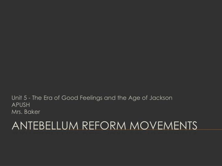 dbq 8 antebellum reforms essay Dbq 8: antebellum reforms write a well-organized essay proving your thesis the essay should be logically presented and should include information both.
