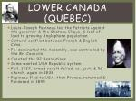 lower canada quebec