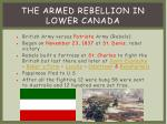 the armed rebellion in lower canada