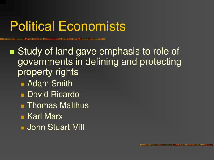 Political Economists
