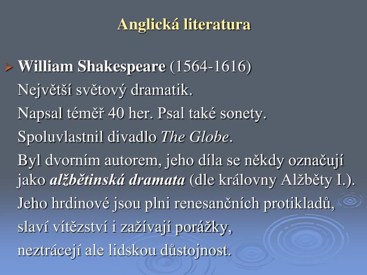 Anglická literatura