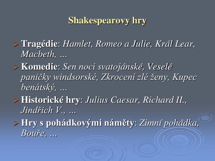 Shakespearovy hry