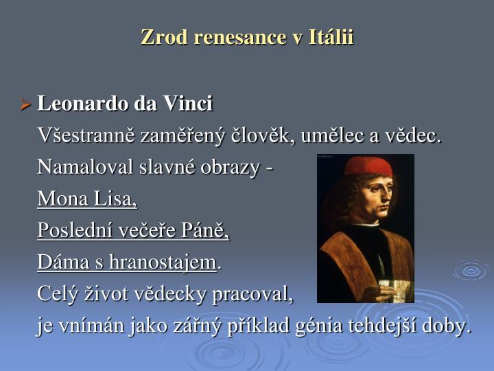 Zrod renesance v Itálii