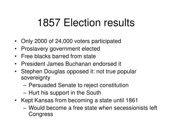 1857 Election results