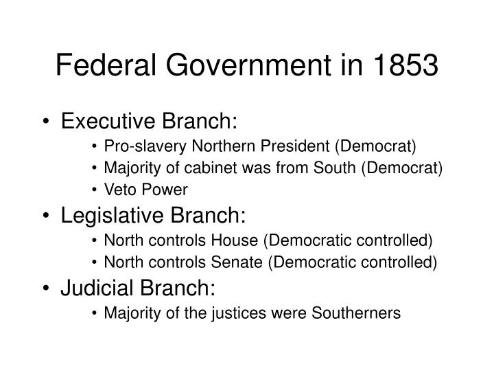 Federal Government in 1853