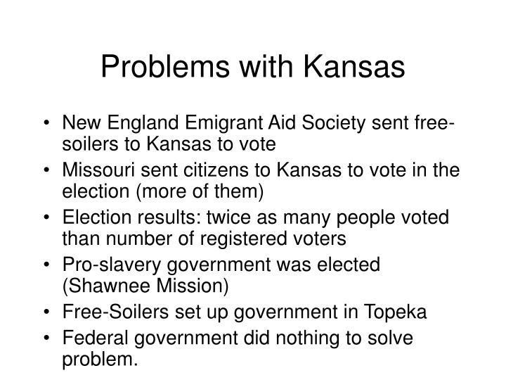 Problems with Kansas