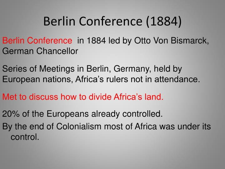Berlin Conference (1884)