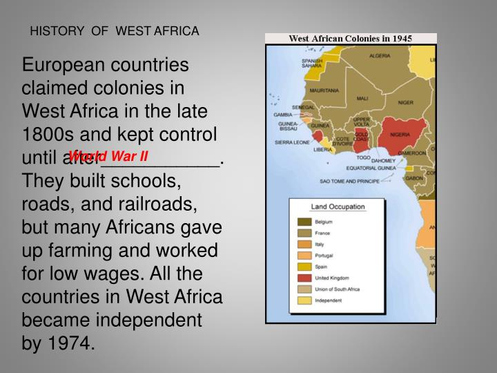 HISTORY  OF  WEST AFRICA