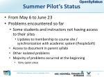 summer pilot s status