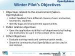 winter pilot s objectives