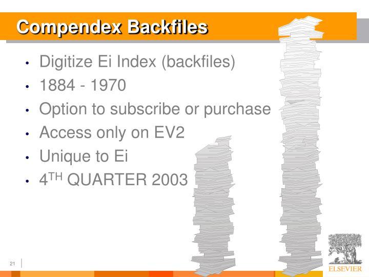 Compendex Backfiles